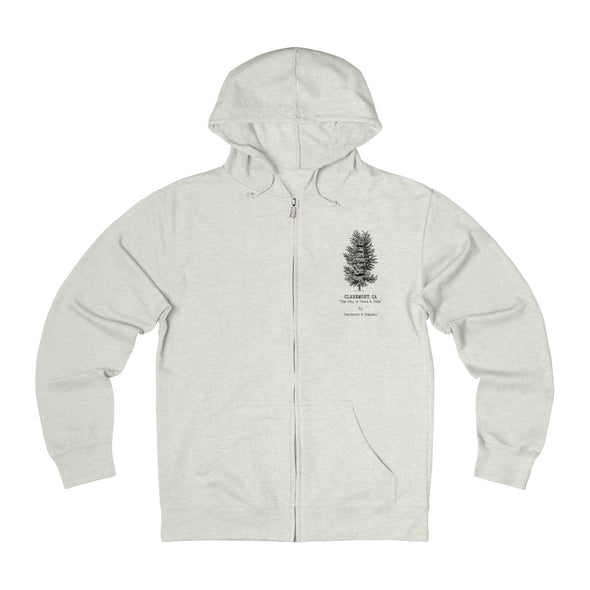 Claremont Elm Tree, French Terry Zip Hoodie