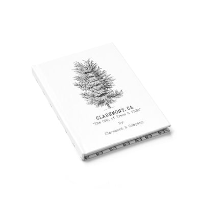 Claremont Elm Tree/Pattern (White), Journal - (Line Pages)