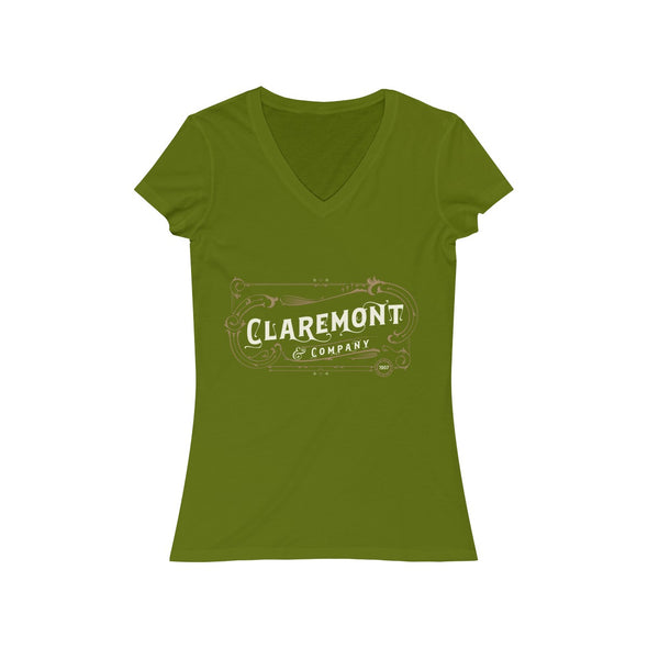Women's Claremont & Co, Short Sleeve V-Neck Tee