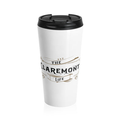 Claremont Life (White), Stainless Steel Travel Mug