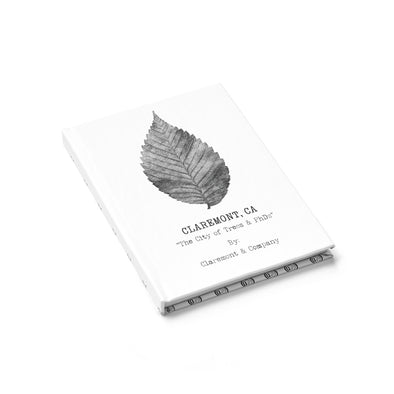 Claremont Elm Leaf/Pattern (White), Journal - (Line Pages)