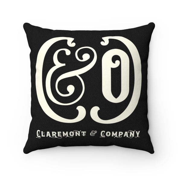 C&Co. (Black), Square Pillow