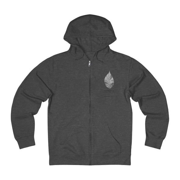 Claremont Elm Leaf, French Terry Zip Hoodie