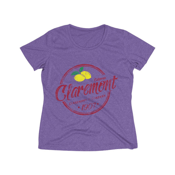 Women's Claremont Lemons, Wicking Tee