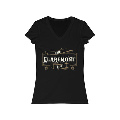 Women's Claremont Life, Short Sleeve V-Neck Tee