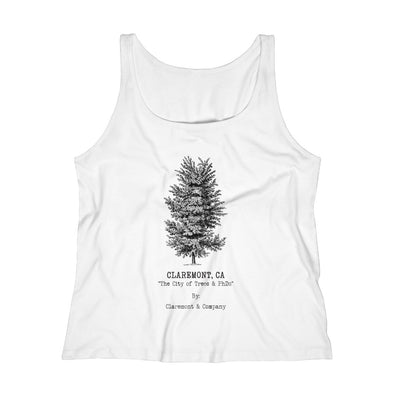 Women's Claremont Elm Tree, Relaxed Jersey Tank Top