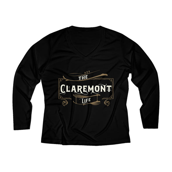 Women's Claremont Life, Long Sleeve Performance V-neck Tee