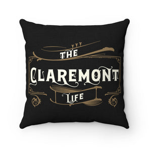 Claremont Life (Black), Square Pillow