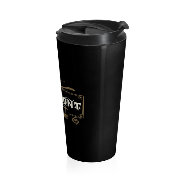 Claremont Life (Black), Stainless Steel Travel Mug