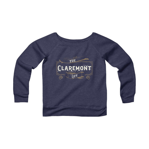 Women's Claremont Life, Fleece Wide Neck Sweatshirt