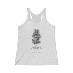 Women's Claremont Elm Tree, Tri-Blend Racerback Tank