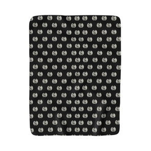 C&Co. Pattern (Black), Sherpa Fleece Blanket