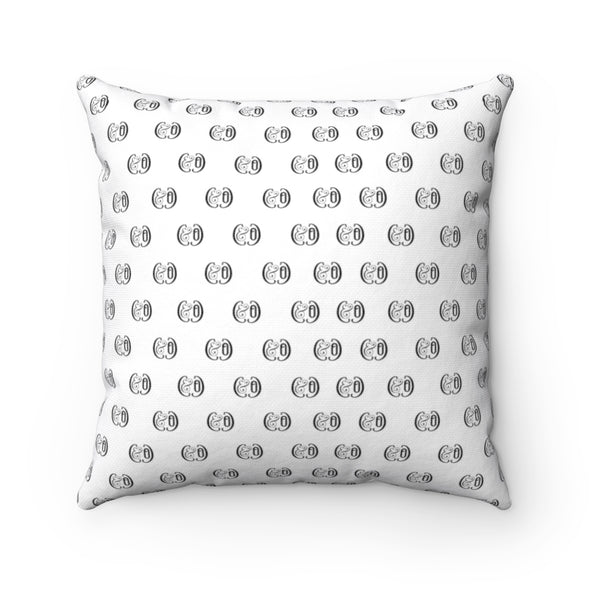 Claremont Elm Leaf (White), Square Pillow