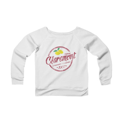 Women's Claremont Meet Me at the Loop, Fleece Wide Neck Sweatshirt