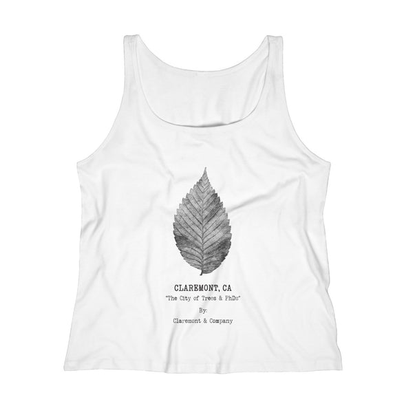 Women's Claremont Elm Leaf, Relaxed Jersey Tank Top