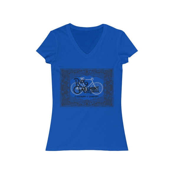 Women's Ride Claremont, Short Sleeve V-Neck Tee