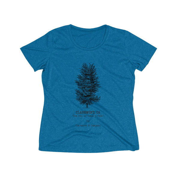 Women's Claremont Elm Tree, Wicking Tee