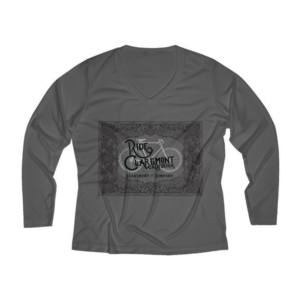 Women's Ride Claremont, Long Sleeve Performance V-neck Tee