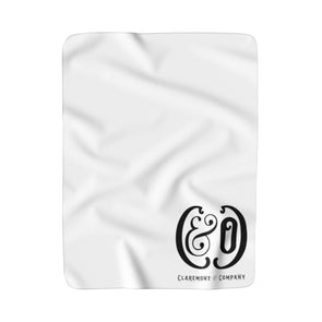 C&Co. Monogram (White), Sherpa Fleece Blanket