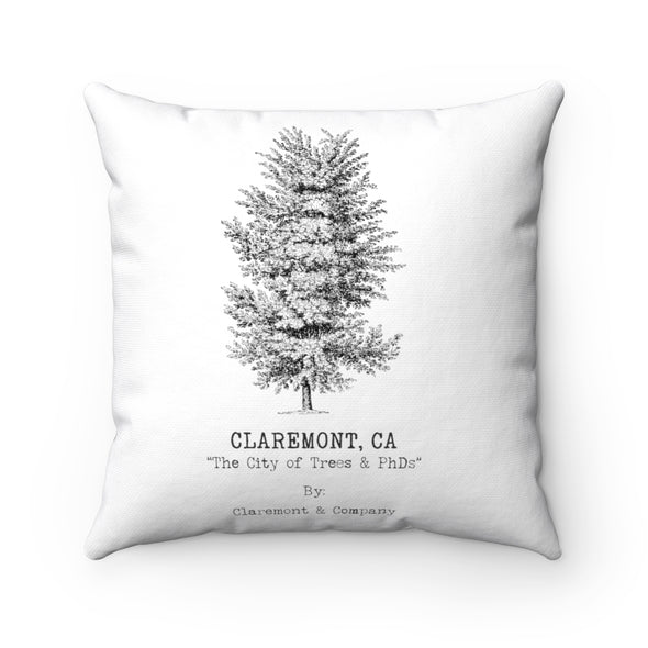 Claremont Elm Tree (White), Square Pillow