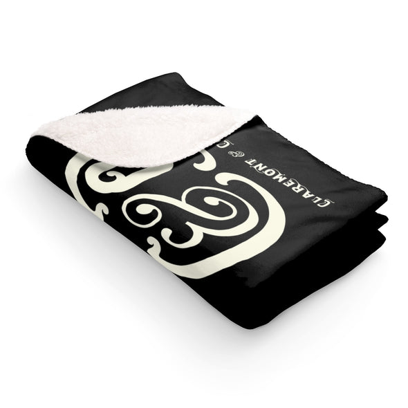 C&Co. Monogram (Black), Sherpa Fleece Blanket