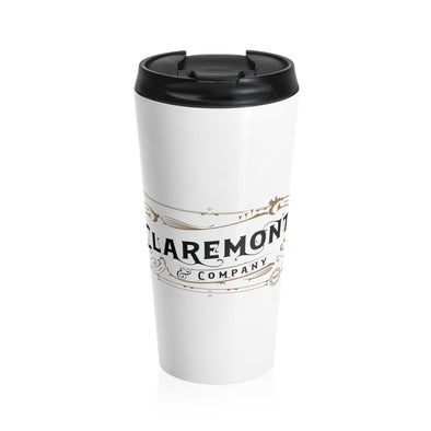 Claremont & Company (White), Stainless Steel Travel Mug