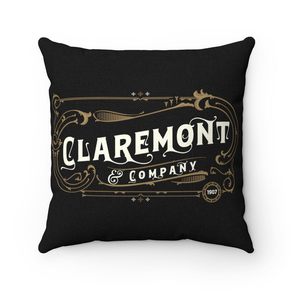 Claremont & Company (Black), Square Pillow