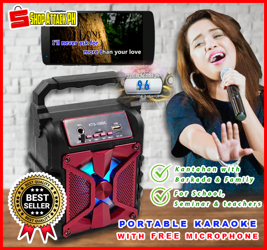 Portable Wireless Karaoke With FREE MIC ⭐⭐⭐⭐⭐