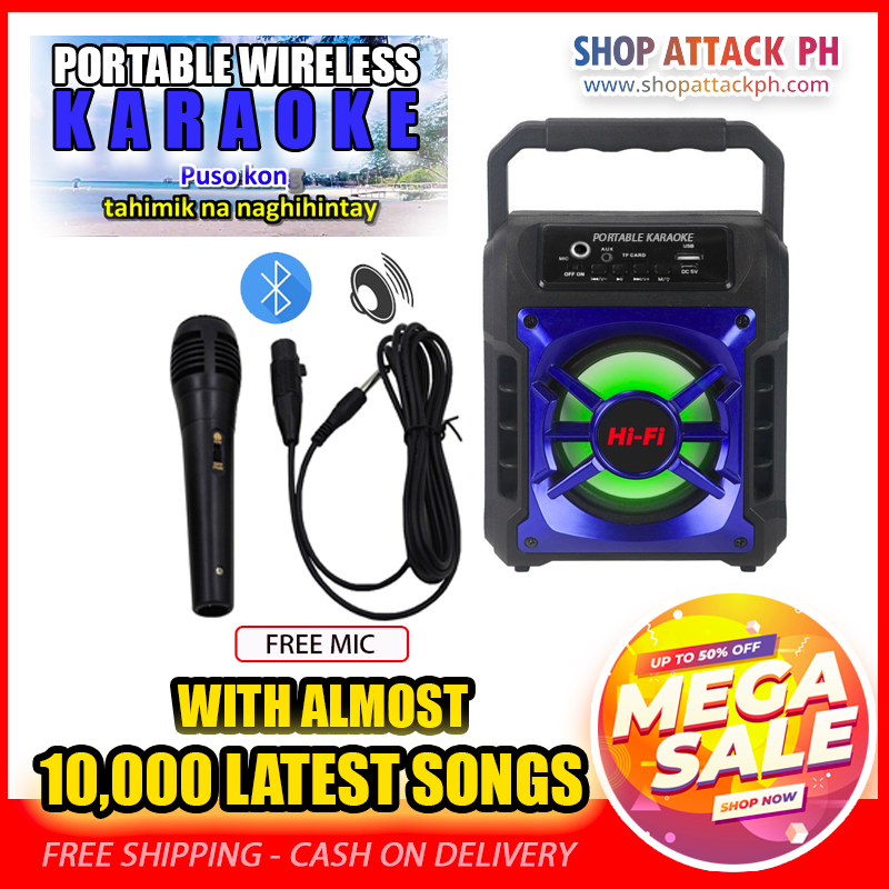 Portable Wireless Karaoke With FREE MIC 2019 ⭐⭐⭐⭐⭐