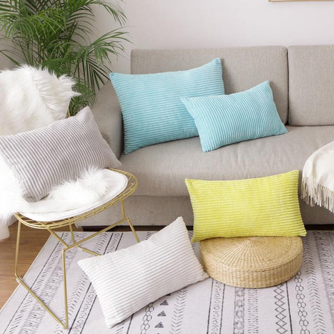 corduroy rectangle pillow collection