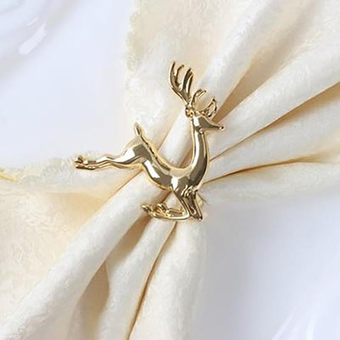deer napkin rings 12pc set