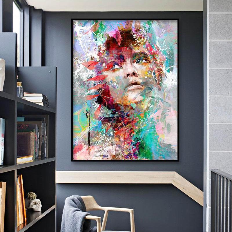 girl portrait art print