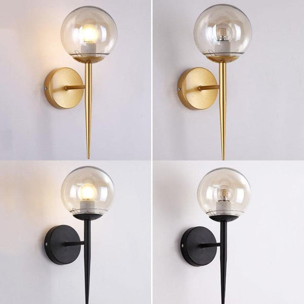 glass ball wall lamp