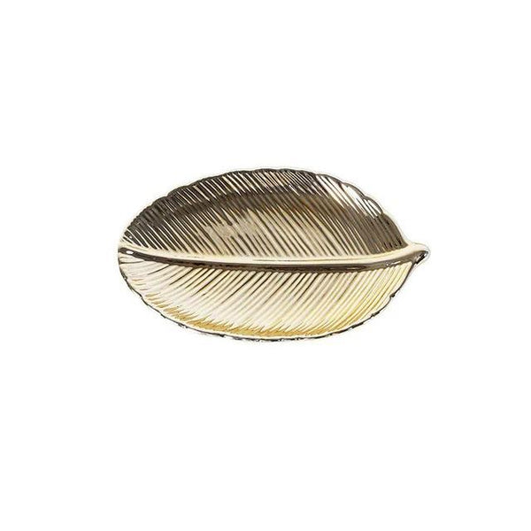 golden jewelry plate
