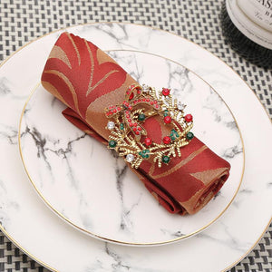 holiday napkin rings 10pc set