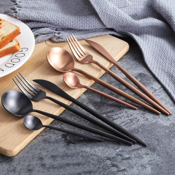 leona solid flatware 24pc set