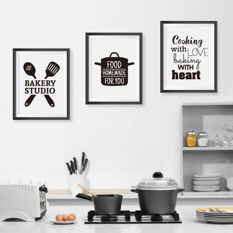 love cooking kitchen canvas