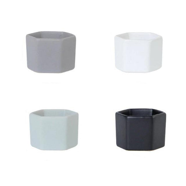 mini hexagon pots 4pc set
