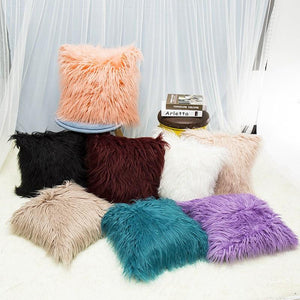 mongolian faux fur pillows