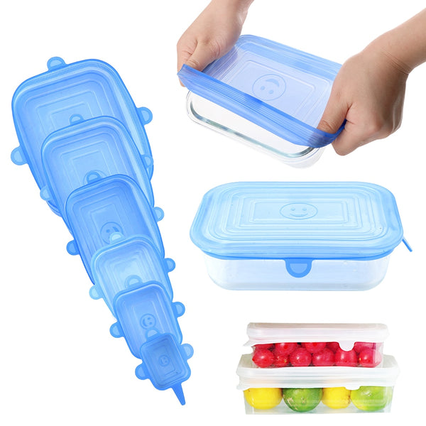 Silicone Stretchy Lids 6pc Set