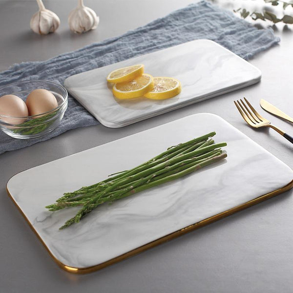 sienna marble serving plate