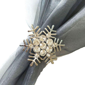 snowflake napkin rings 6pc set