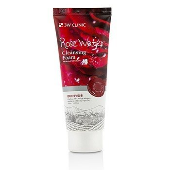 3W CLINIC Cleansing Foam - Rose Water Size: 100ml/3.38oz