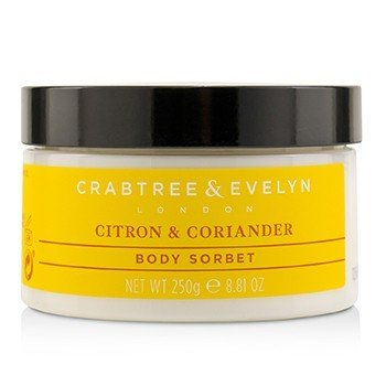 CRABTREE & EVELYN Citron & Coriander Energising Body Sorbet Size: 250g/8.81oz