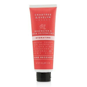 CRABTREE & EVELYN Rosewater & Pink Peppercorn Hydrating Hand Recovery Size: 100g/3.5oz