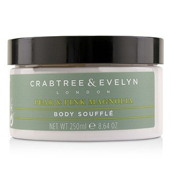 CRABTREE & EVELYN Pear & Pink Magnolia Uplifting Body Souffle Size: 250ml/8.64oz