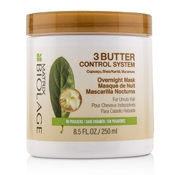 MATRIX Biolage 3 Butter Control System Overnight Mask (For Unruly Hair) Size: 250ml/8.5oz