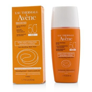 AVENE Ultra Light Hydrating Sunscreen Lotion SPF 50+ Size: 38.5ml/1.3oz.