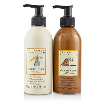 CRABTREE & EVELYN Gardeners Hand Collection: Hand Therapy 250g + Hand Soap 300ml Size: 2pcs