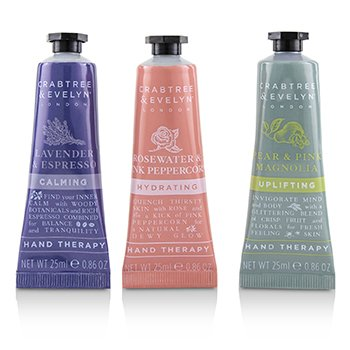 CRABTREE & EVELYN Floral Hand Therapy Trio Size: 3x25ml/0.86oz